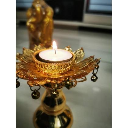Metal Lotus Candle Stand/Deepavali/ Diwali/Decoration/Kundan/Wedding/Indian