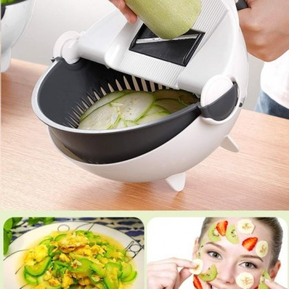 9 IN 1 Multifunction Kitchen Tools Manual Vegetable Cutter Chopper Slicer