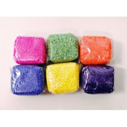 Colourful Rangoli Colour Rice / Kolam Arisi 6 in 1 600g