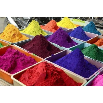 Set of 10 Different Rangoli Colors Powder Used for Decorating Houses and Temples on All Occasions. (Pack of 500 g)